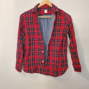 Gap red and blue lined flannel